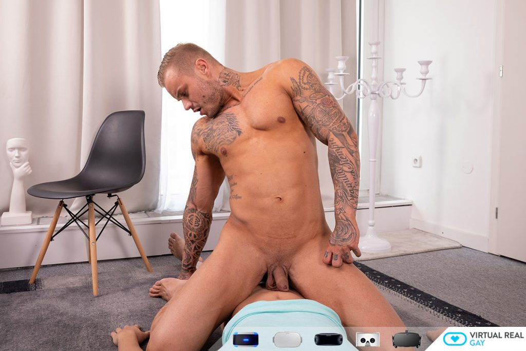 buff Ryan Cage riding your cock